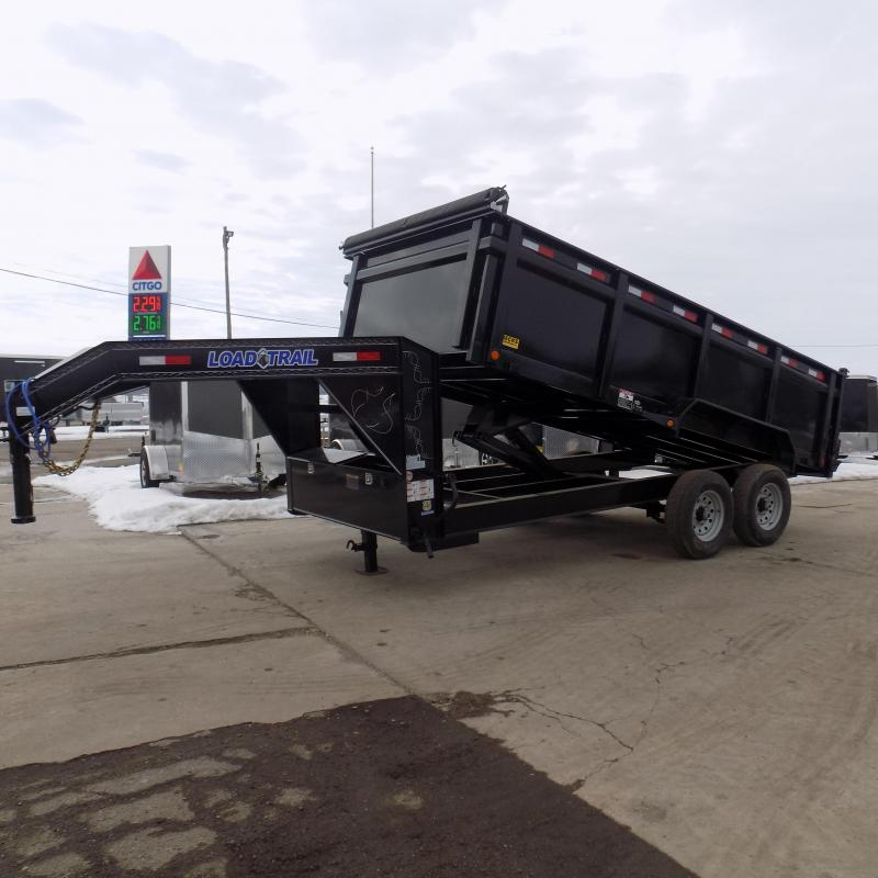 """New Load Trail 83"""" x 16' Dump Trailer with 36"""" Sides"""
