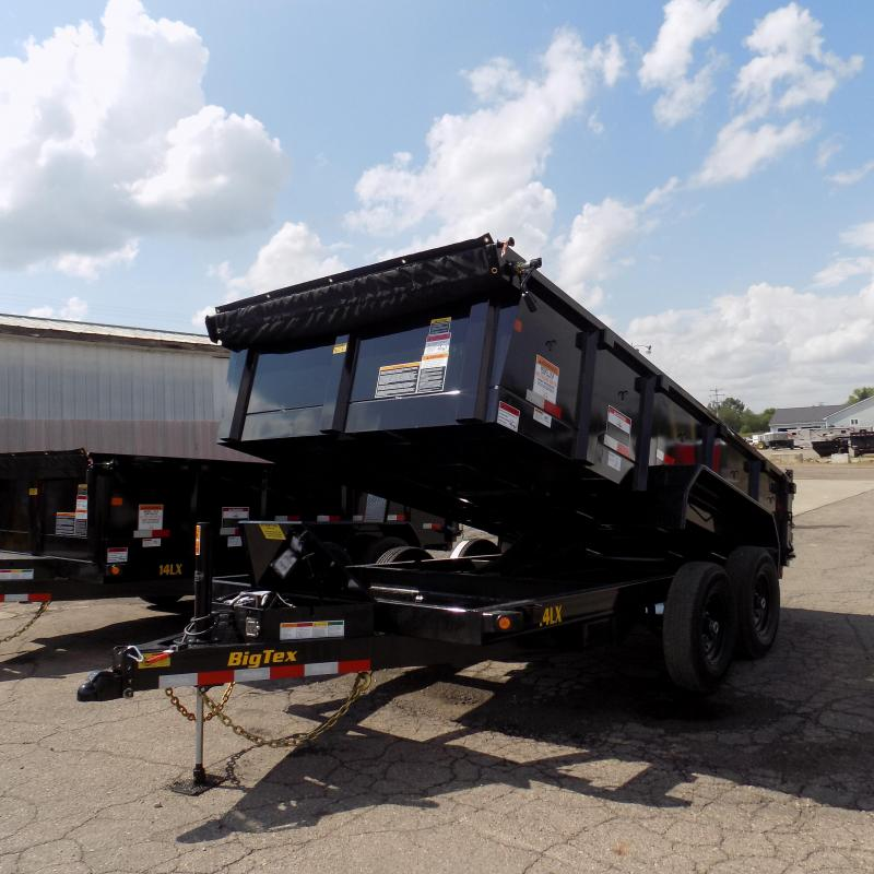 "New Big Tex 7"" x 14' Dump Trailer with Scissor Lift and Hydraulic Jack"