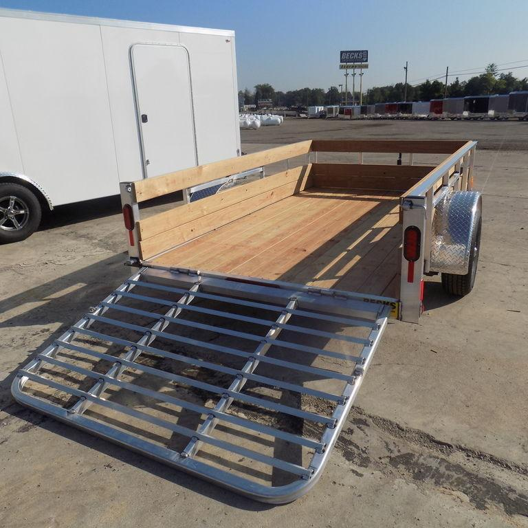 New Legend 6' x10' Aluminum 3 Board High Side Utility Trailer