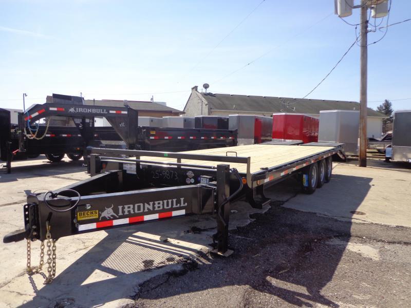 "New Iron Bull 102"" x 25' Deckover Trailer - Pintle Hook"