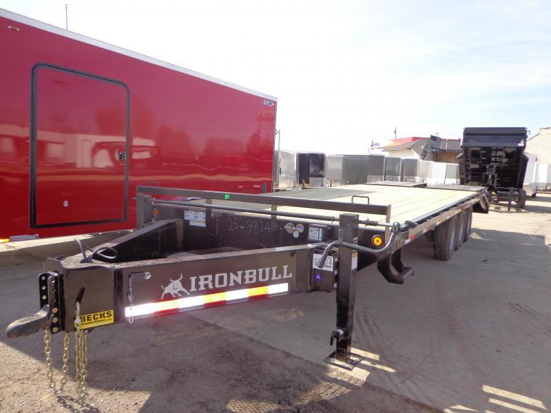 "New Iron Bull 102"" x 25' Deckover Trailer - Pintle Hook"