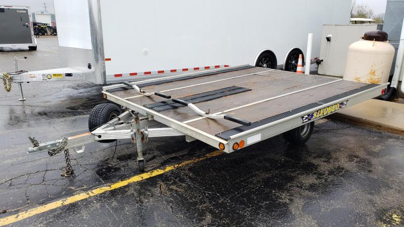 "Used 101"" x 10' Sled Bed 2-Place Snowmobile Trailer"