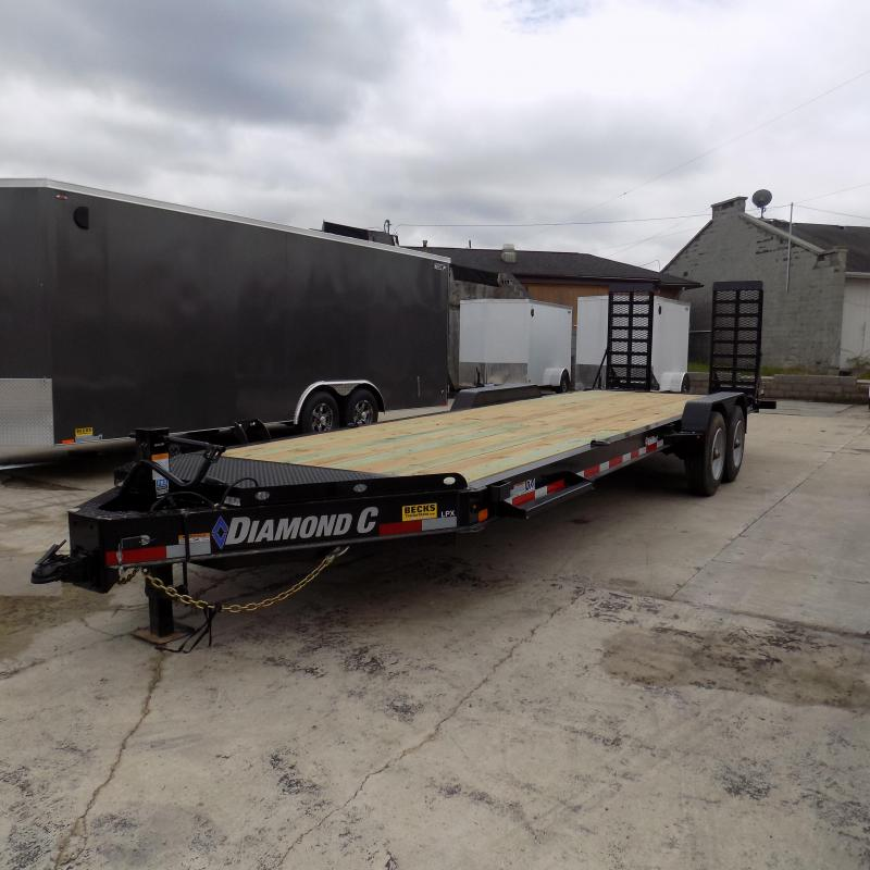 "New Diamond C Trailers 82"" x 24' Equipment Trailer with 10K Axles"