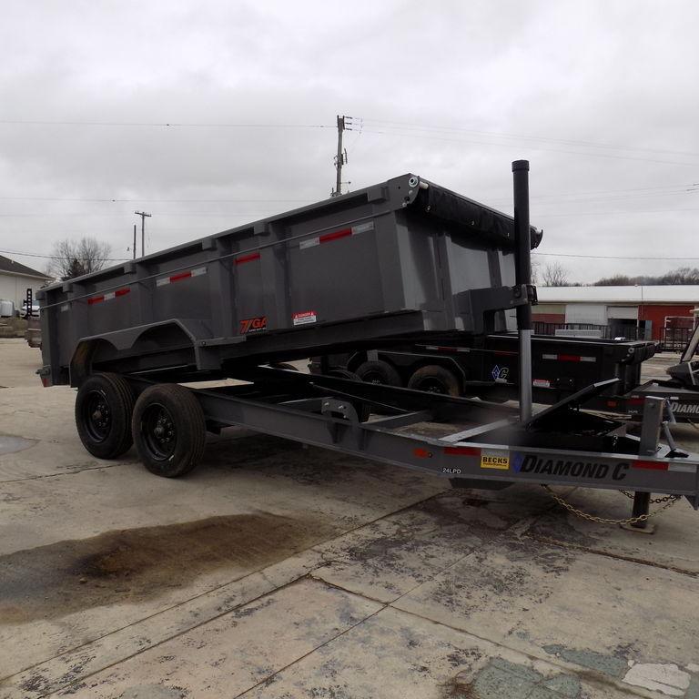 "New Diamond C 82"" x 14' Low Profile Dump Trailer - 10K Axles"