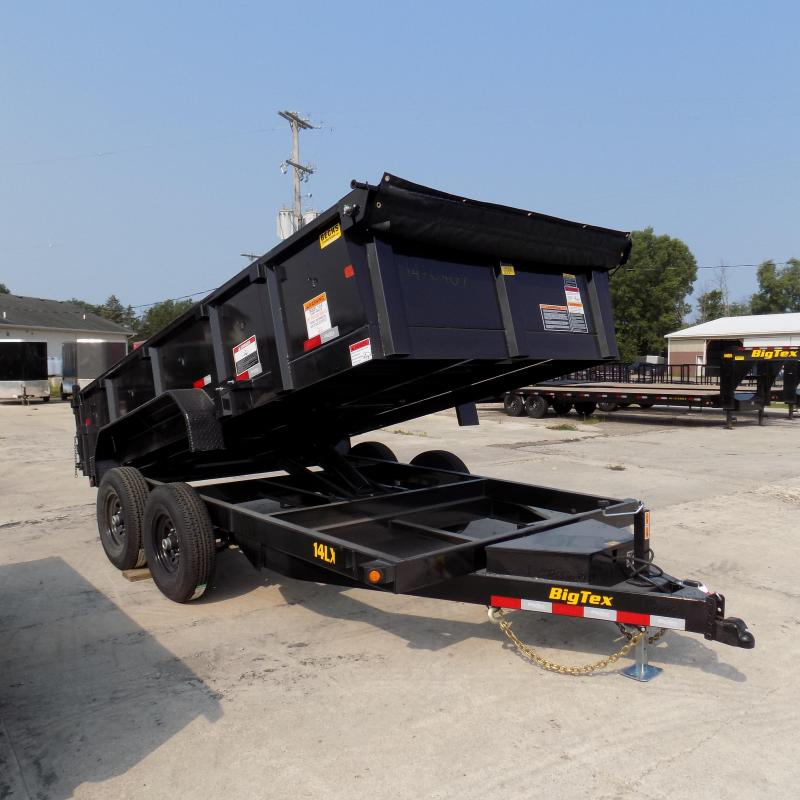 new big tex 83 u0026quot  x 14 u0026 39  dump trailer with scissor lift