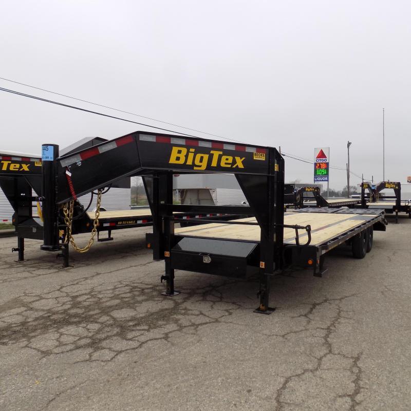 "New Big Tex 102"" x 20' + 5' Gooseneck Trailer with Mega Ramps"