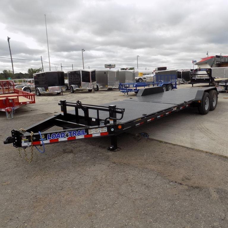 """New Load Trail TH14 83"""" x 24' Tilt Deck Trailer with Steel Deck"""