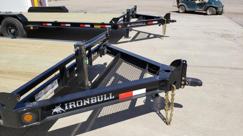 "New Iron Bull 83"" x 20' Equipment Trailer with 8K Axles Upgrade"