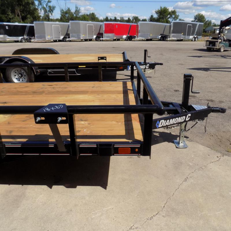 "New Diamond C Trailers 83"" x 18' Open Utility Trailer w/ Bi-Fold Rear Gate"