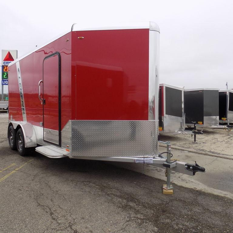 New Legend Trailers Deluxe V-Nose 7' x 17' Aluminum Enclosed Cargo Trailer For Sale