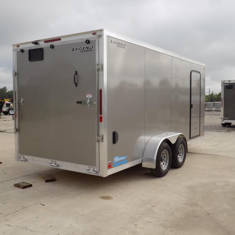 New Legend Thunder 7' x 18' Aluminum Enclosed Cargo Trailer For Sale