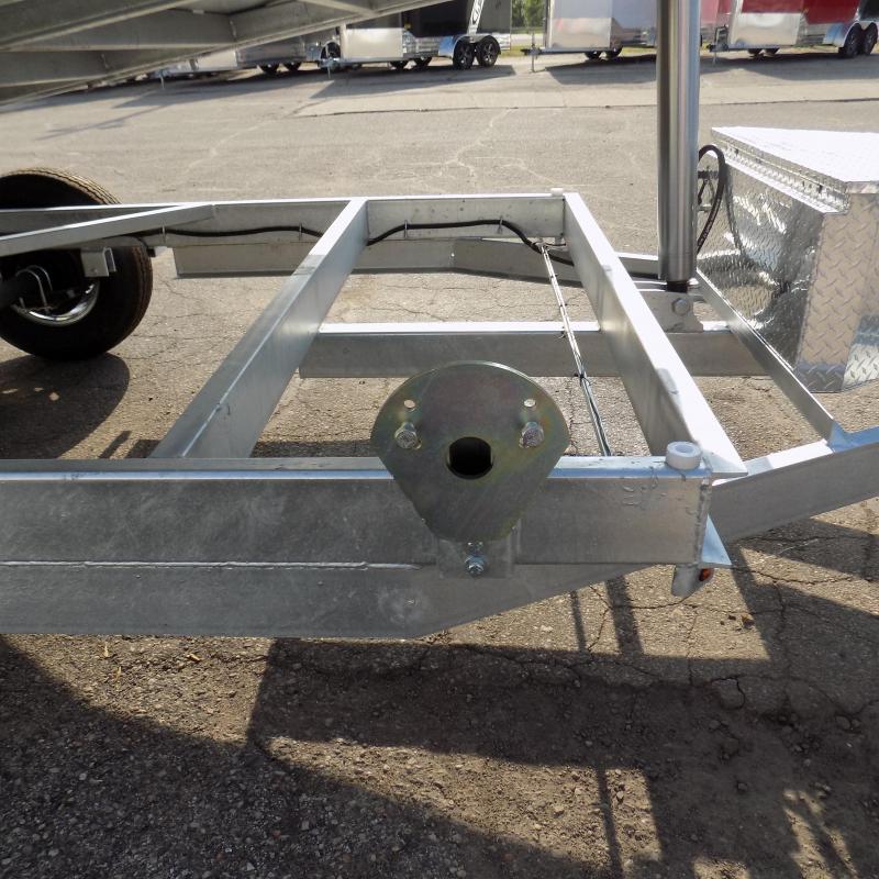 "New Galvanized 80"" x 14' Dump Trailer with 24K Telescopic Lift"