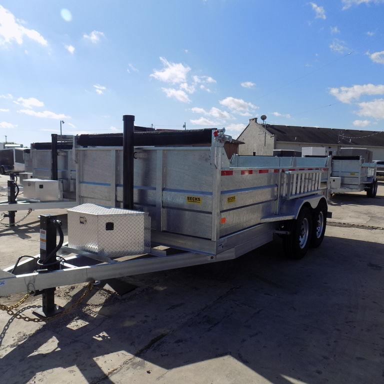 New DuraDump 7' x 14' Galvanized Dump Trailer For Ssle in Ashburn, VA