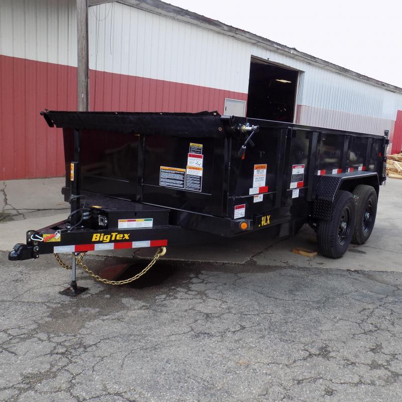 "New Big Tex 7"" x 14' Dump Trailer with Scissor Lift and Hydraulic Jack"