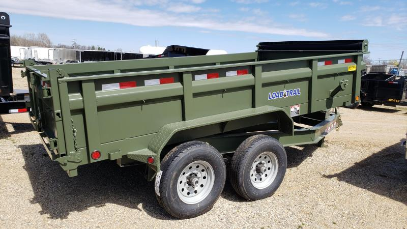 "New Load Trail DT14 83"" x 14' Dump Trailer - Army Green!"