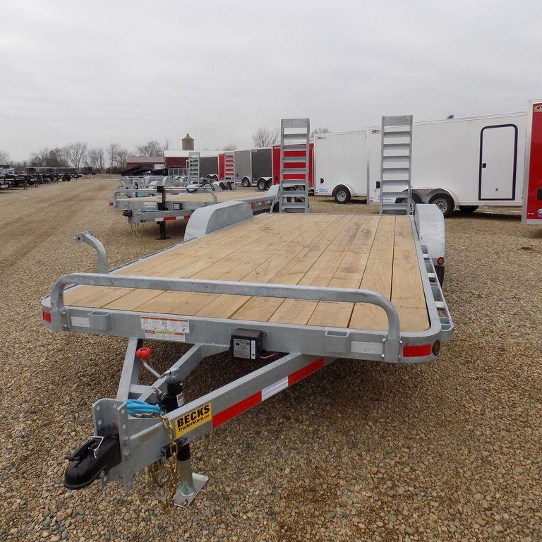 "New Galvanized 83"" x 18' Open Car Hauler - 5200# Axles in Ashburn, VA"