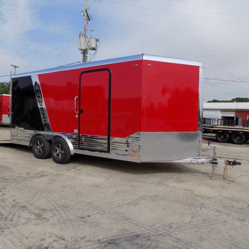 New Legend Deluxe V-Nose 8' x 19' Enclosed Cargo Trailer - LOADED!