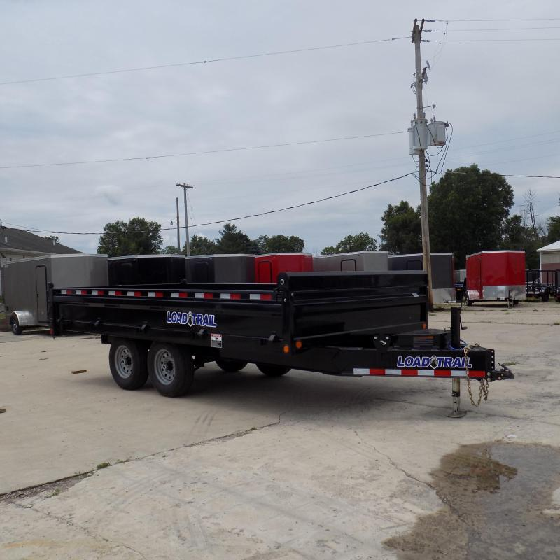 "New Load Trail 96"" x 16' Deckover Dump Trailer with Fold Down Sides"