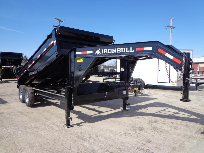 "New Iron Bull 83"" x 16' Goosneck Dump Trailer for Sale"