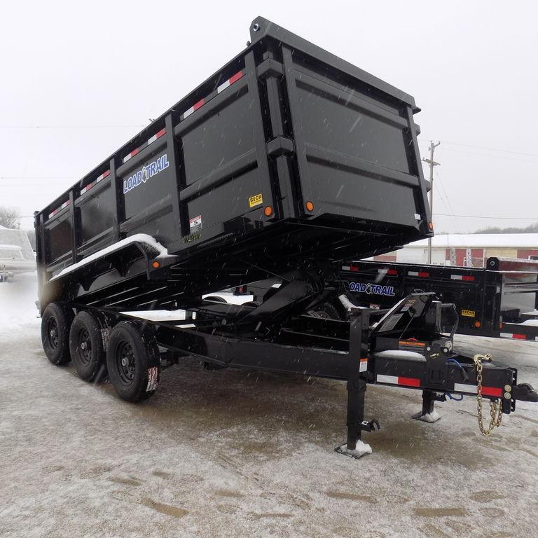 "New Load Trail 83"" x 16' Triple Axle Dump Trailer w/ 48"" Sides"