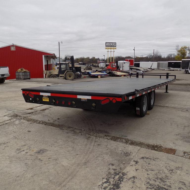 """New Load Trail DK14 102"""" x 24' Deckover Trailer with Steel Deck"""