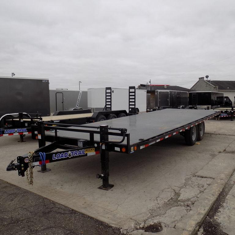 "New Load Trail DK14 102"" x 24' Deckover Trailer with Steel Deck"