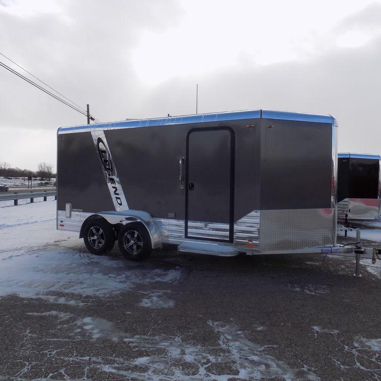 New Legend Deluxe V Nose 7' x 17' Aluminum Enclosed Cargo Trailer