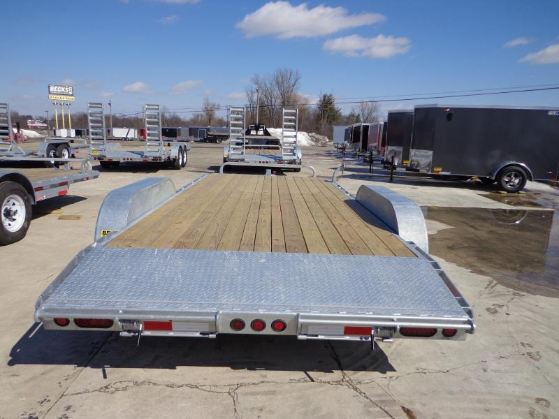 "New Galvanized 83"" x 18' Car Hauler - Torsion Axles"