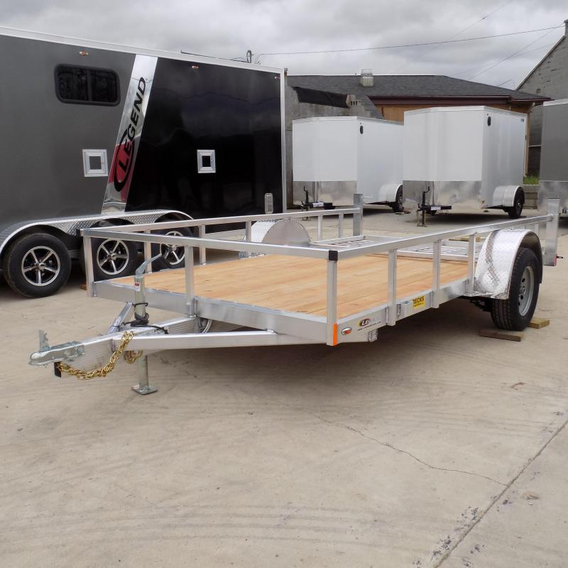 New Legend Open Deluxe 7' x 12' Aluminum Utility Trailer For Sale