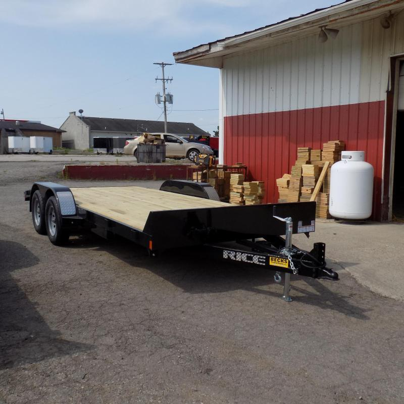"""New Rice Trailers 82"""" x 18' Open Car Hauler for Sale"""