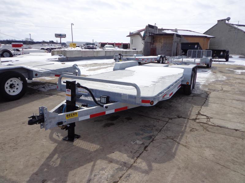 "New Galvanized 83"" x 20' Equipment Trailer with 7000# Axles"