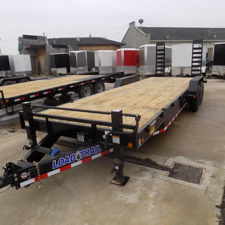 "New Load Trailer CH14 83"" x 24' Open Car Hauler / Equipment Trailer - 14K Weight Rating"
