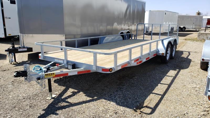 "New Galvanized 83"" x 20' Utility Landscape Trailer for Sale"