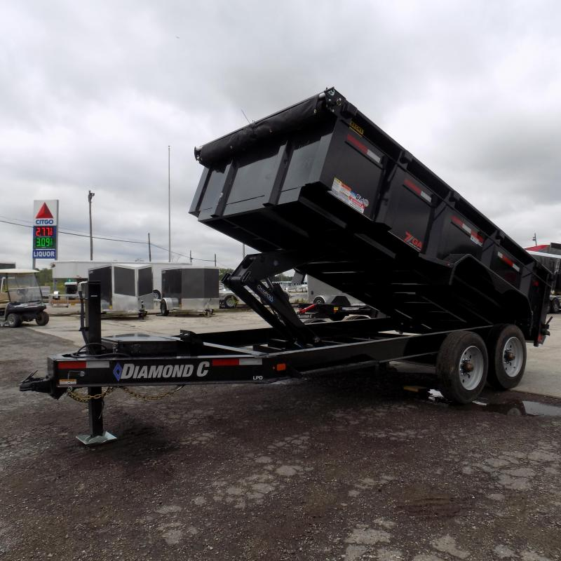 "New Diamond C 82"" x 14' Low Profile Dump Trailer with 20K Weight Rating"