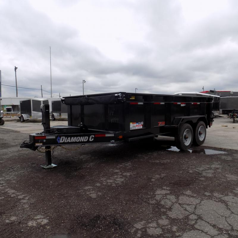 """New Diamond C 82"""" x 14' Low Profile Dump Trailer with 20K Weight Rating"""