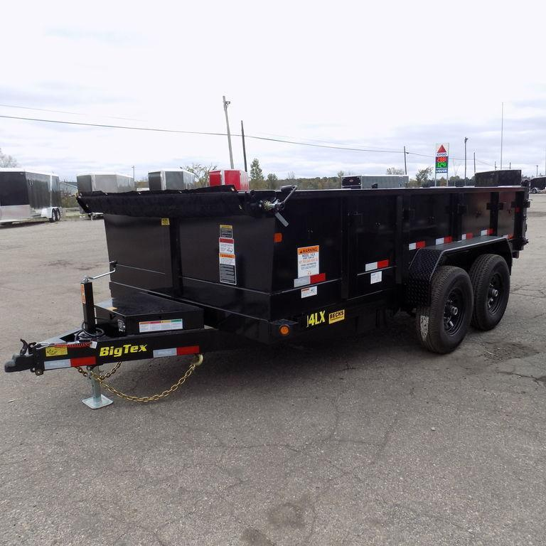 "New Big Tex 83"" x 14' Dump Trailer with Scissor Lift"