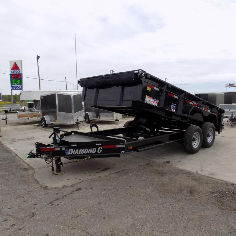 "New Diamond C 82"" x 14' Low Profile Dump Trailer - Awesome XL Tool Box"