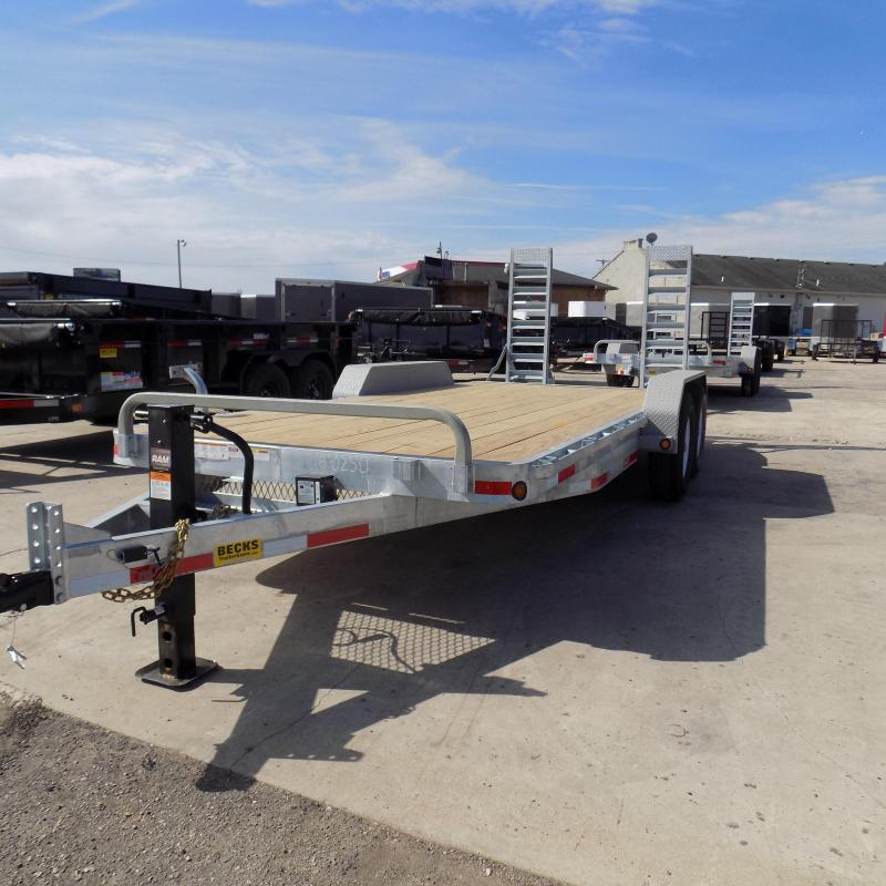 "New Galvanized 83"" x 18' Equipment Trailer - Corrosion Resistant"