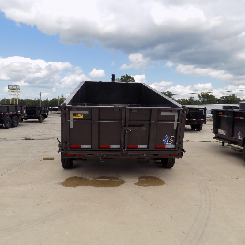 "New Diamond C Trailers 82"" x 14' Low Profile Dump Trailer W/ 10K Torsion Axles & Telescopic Lift"