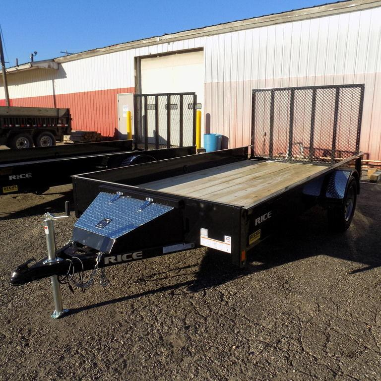 "New Rice Trailers Stealth 76"" x 12' Utility Trailer For Sale"