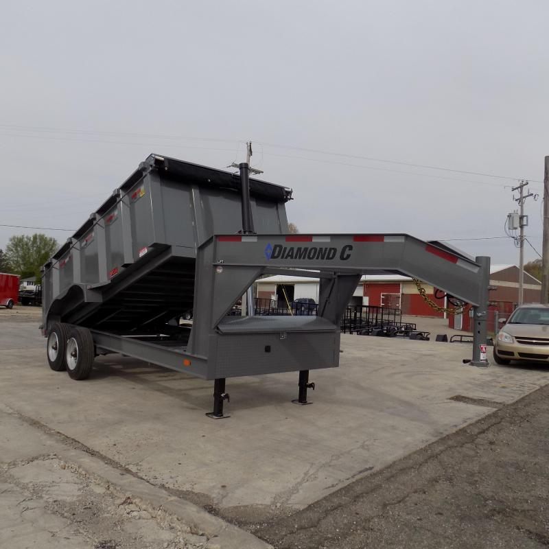 New Diamond C Gooseneck Dump Trailer with 10K Torsion Axles
