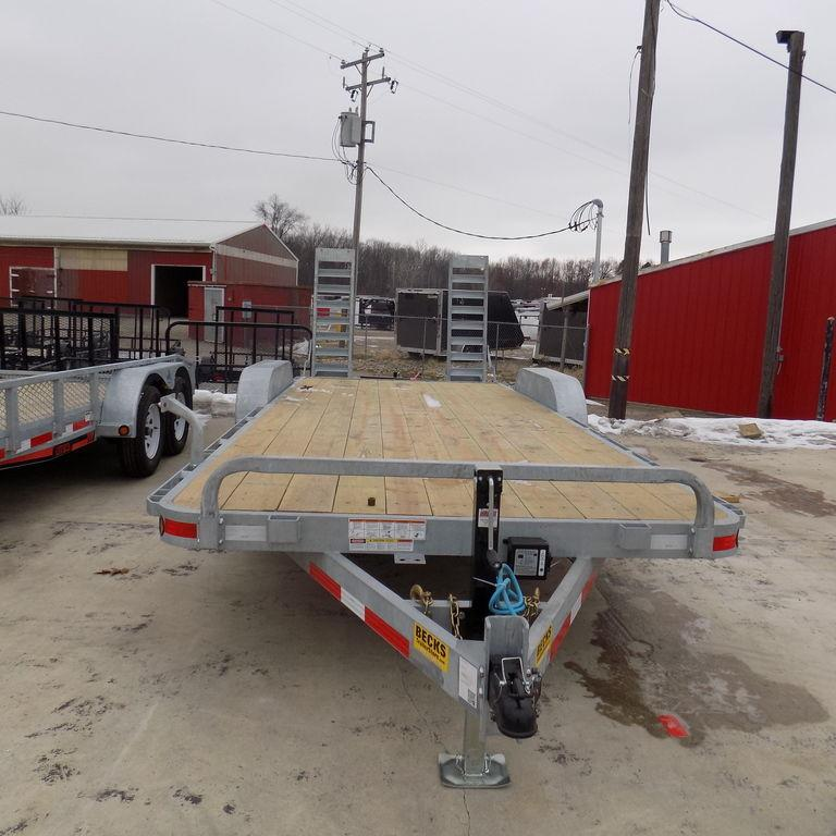 New Galvanized EC5 83' X 20' Open Car Hauler