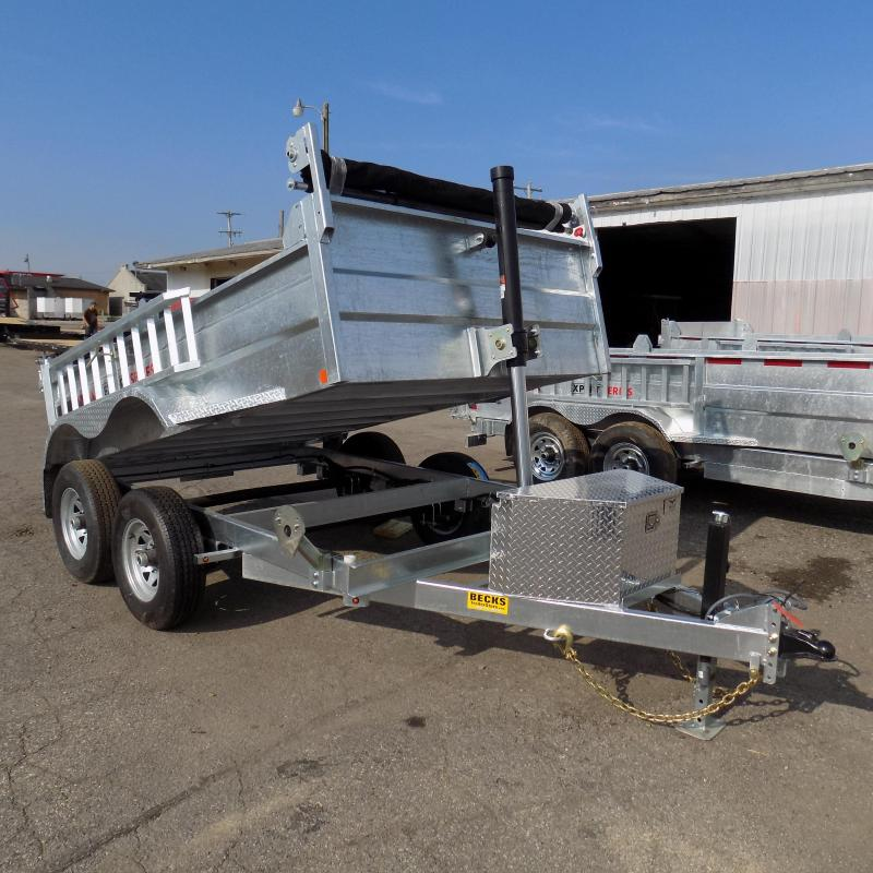 New Galvanized 6' x 10' Dump Trailer with Telescopic Lift in Ashburn, VA