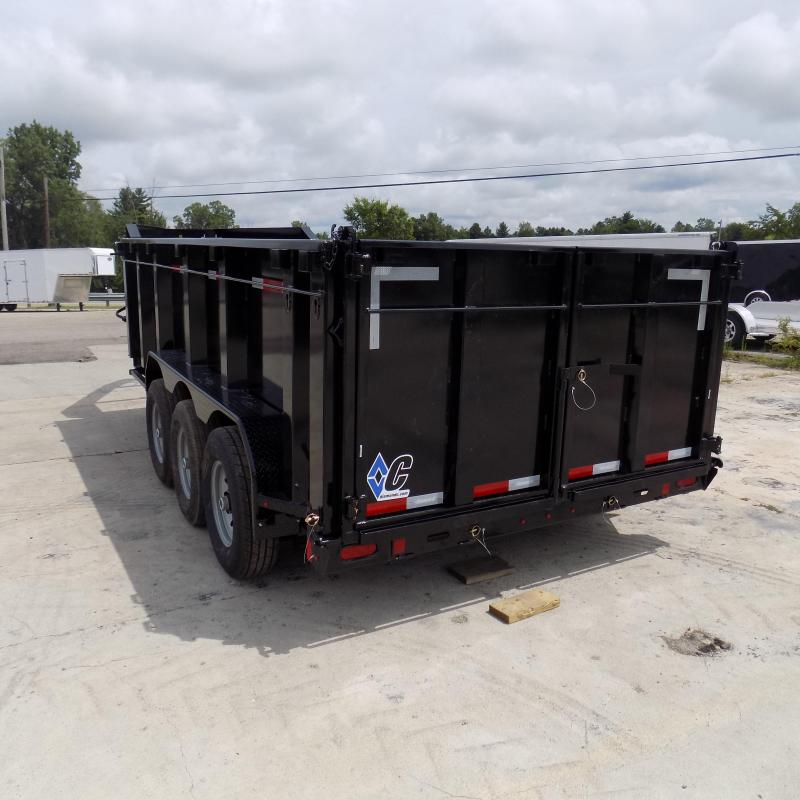 "New Diamond C 82"" x 16' Dump Trailer W/ 19.5K Payload + 44"" Sides"