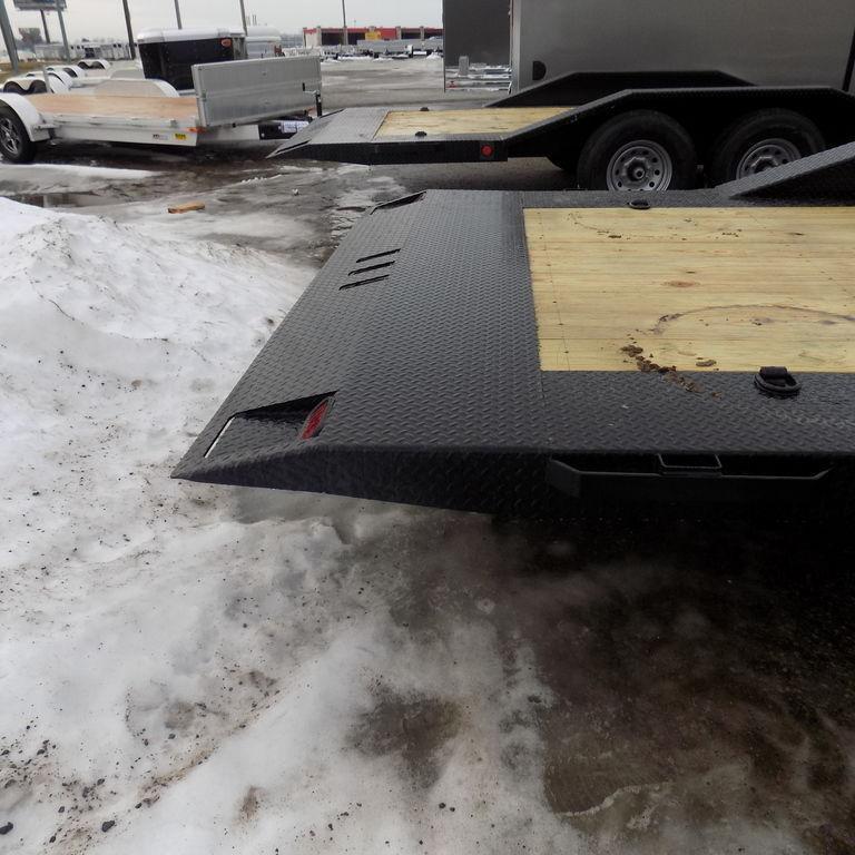 """New Iron Bull 102"""" x 24' Tilt Deck Trailer - 8K Axles"""