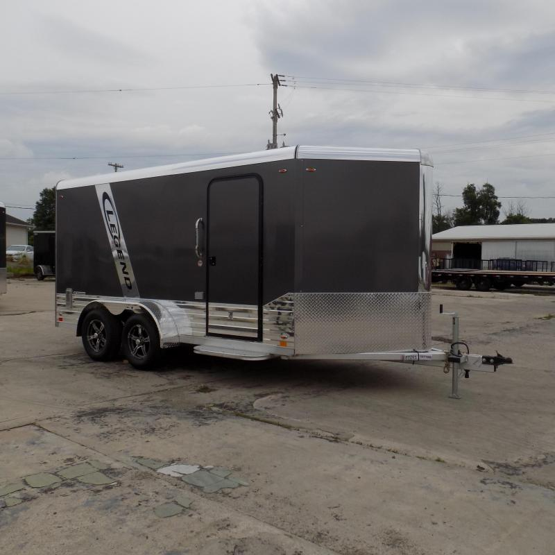 New Legend Deluxe V Nose 7' X 17' Enclosed Cargo Trailer For Sale