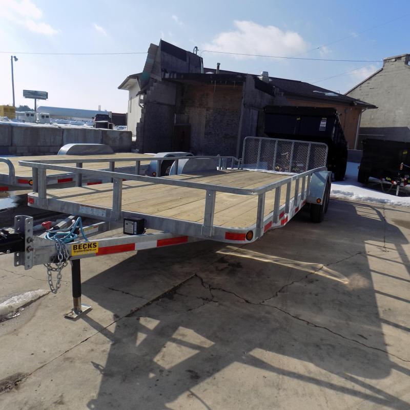"New Galvanized 83"" x 22' Utility Landscape Trailer for Sale"