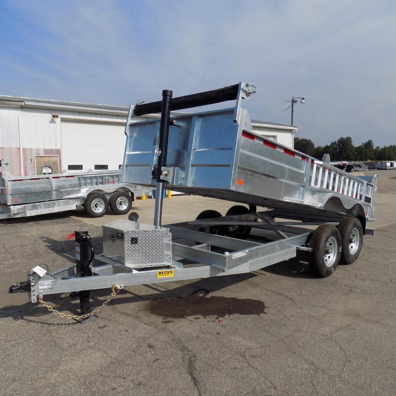 "New Galvanized 80"" x 14' Dump Trailer with 24K Telescopic Lift in Ashburn, VA"