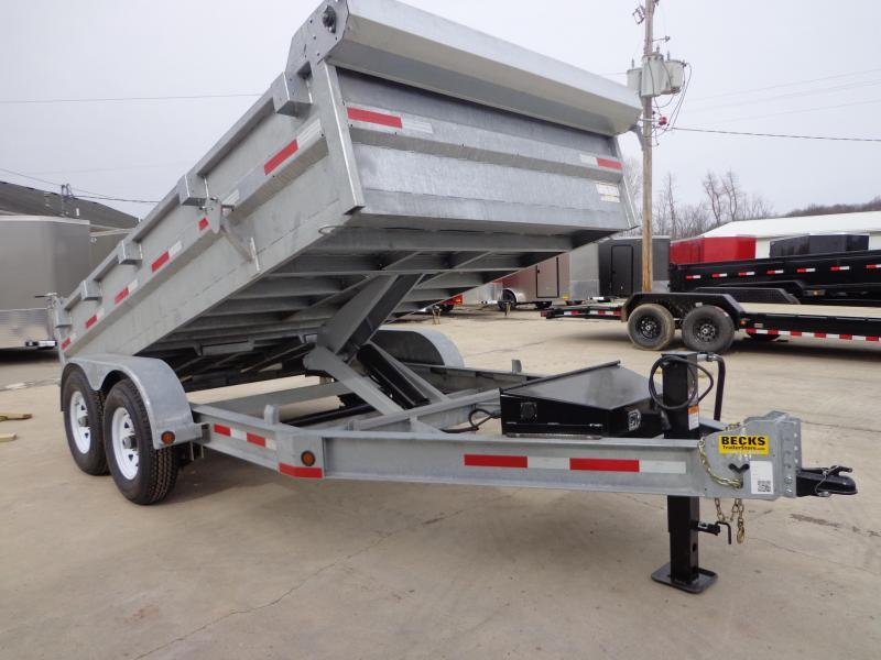 "New Galvanized 83"" x 14' Dump Trailer For Sale in Ashburn, VA"