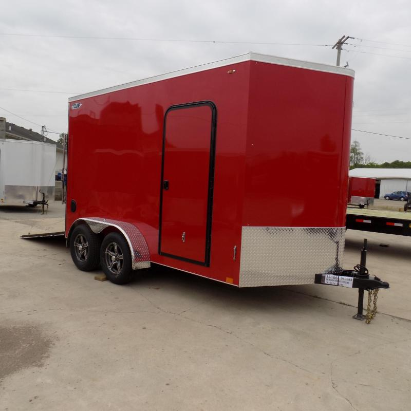New Legend Trailers Legend Cyclone V-Nose Steel 7X14STVTA35